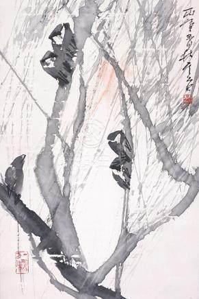 陳其道  柳鳥圖