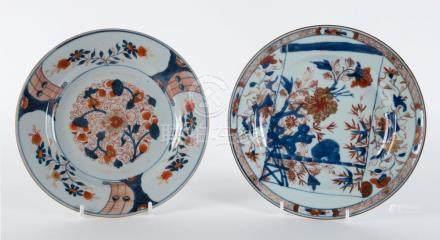 Two Arita ware plates, Japanese, late 18th century, 22.5cm d