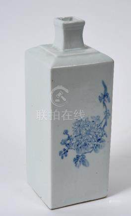 A vase, probably Korean, of square form, decorated foliage, 24 cm high See illustration report by RB