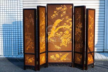 A Chinese Bamboo Screen