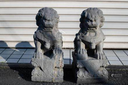 A Pair Of Chinese Stone Lions