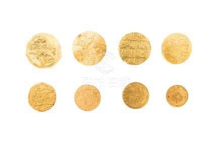 EMPIRE OTTOMAN, lot de 8 pièces :Selim Ier (1512-1520), sultani, AH 918, Consta