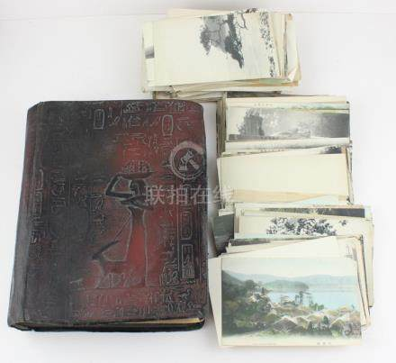 A Japanese Munchukuo album and a collection of post cards