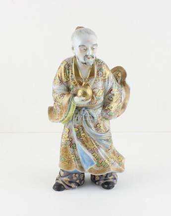 A japanese Meiji period porcelain figure of a warrior,