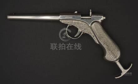 Antike Ganzmetall-Luftdruckpistole von Michael Flürscheim