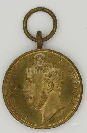 Hannover-Langensalza Medaille mit Trägergravur