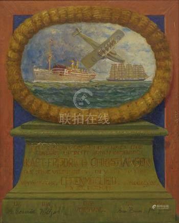 Ehrenmitgliedsurkunde des Marineverein der Insel Föhr für Kapitän Friedrich Christiansen