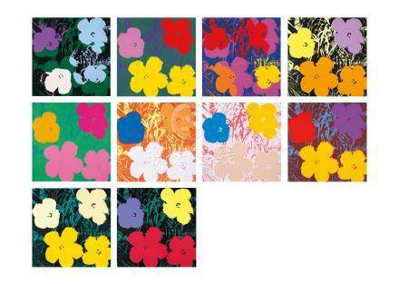 Andy Warhol 《Sunday B.Morning》(安迪・沃荷)Flowers 全10幅