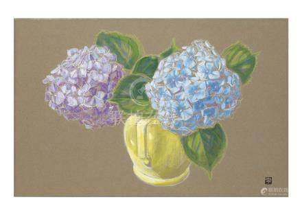 杉山 寧〈1909-1993〉紫陽花
