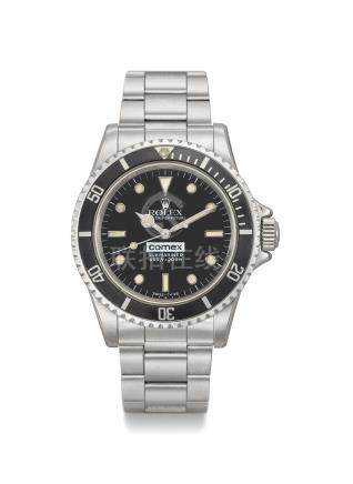 Rolex. A very rare stainless steel automatic wristwatch with sweep centre seconds, gas escape valve, bracelet, International Service Guarantee, box and original ''Pre-Comex'' ref. 5513 dial, made for COMEX
