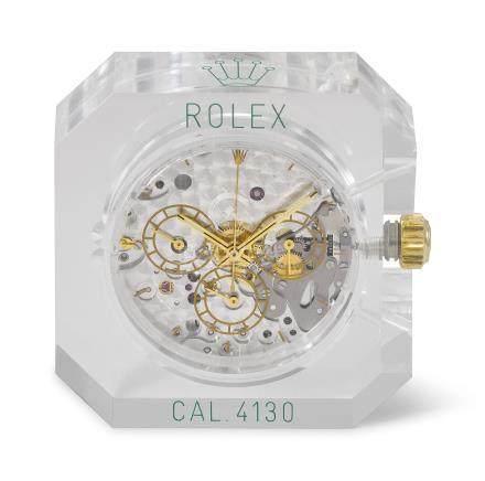 ROLEX. A RARE PLASTIC-ENCASED DISPLAY AUTOMATIC CHRONOGRAPH MOVEMENT