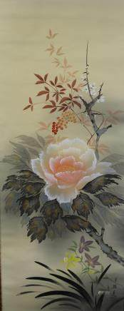 A Japanese hanging scroll
