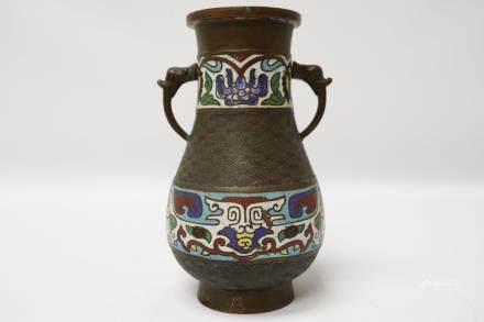 A Japanese fine cloisonne-bronze vase