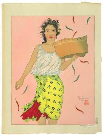 PAUL JACOULET (#54) Vendeuse de Mangues. Mariannes. (Mango S