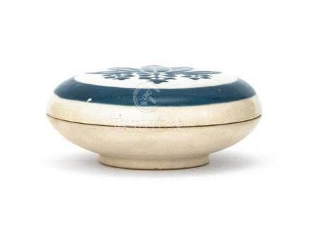 JAPANESE GYOZAN SATSUMA POTTERY KOGO In circular form. With