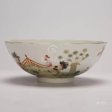 Small bowl of fighting colors in Qing Dynasty