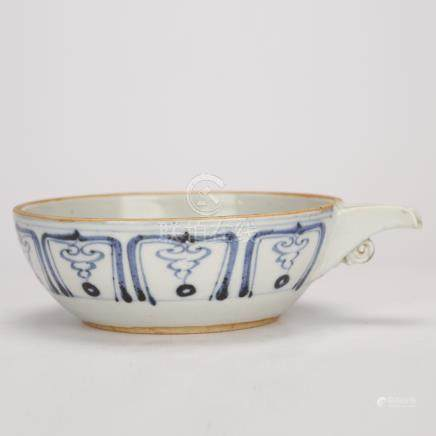Blue and White Bowl of Qing Dynasty