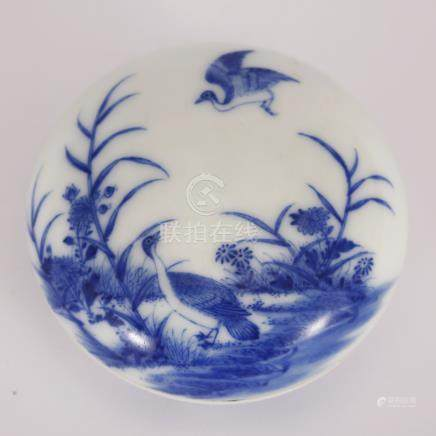 Blue and White Flower box in Qing Dynasty
