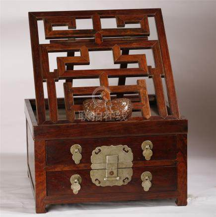 Chinese Qing Dynasty  RoseWood box