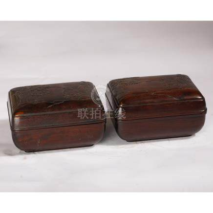 Chinese Qing Dynasty  RoseWood boxes