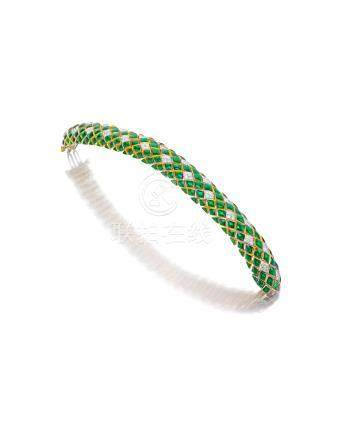 An enamel and diamond bracelet, David Webb