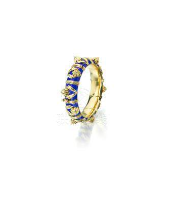An 18k gold and enamel bracelet, Jean Schlumberger for Tiffany & Co., French