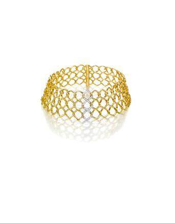 An 18k gold and diamond collar, Paloma Picasso for Tiffany & Co.,