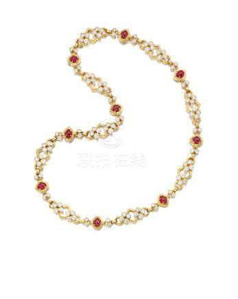 A ruby and diamond necklace, Harry Winston