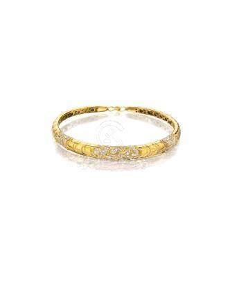 """An 18k gold and diamond """"Onda"""" necklace, Marina B.,"""