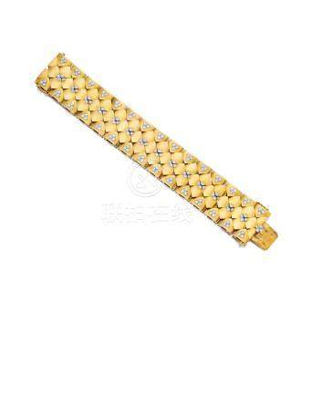An 18k gold and diamond bracelet, Cartier, French,