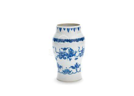 A blue and white 'dragon' baluster vase Probably 17th century
