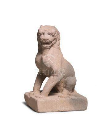 A stone figure of a seated lion Tang Dynasty