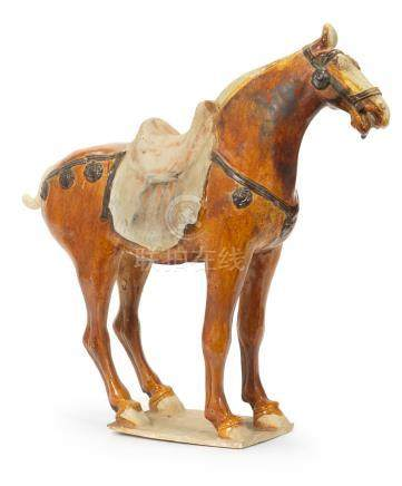 A sancai-glazed pottery model of a horse Tang Dynasty