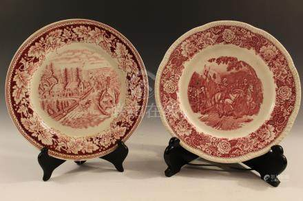 Two Homer Laughlin China plates.