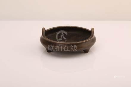 Chinese bronze incense burner, mark on the bottom.