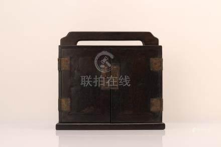 Chinese Zitan wood box.