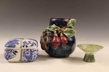 Three decorative items.