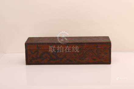 Chinese lacquer box, Qianlong mark.