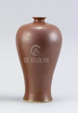 CHINESE TEADUST GLAZE PORCELAIN BOTTLE/VASE In meiping form.