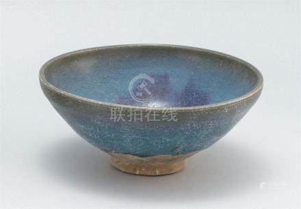 CHINESE JUNYAO POTTERY BOWL In hemisphere form. With lavende