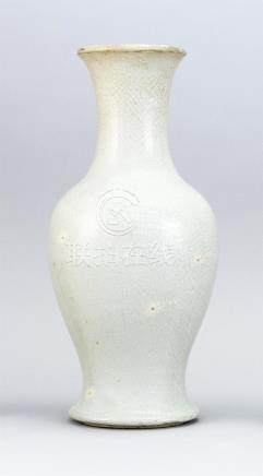 CHINESE GUAN WARE PORCELAIN VASE In baluster form. Height 14