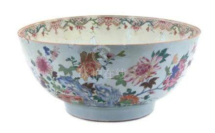 A Chinese Export Porcelain Large Punchbowl