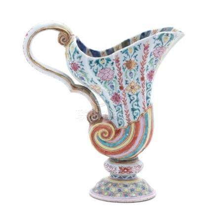 A Chinese Export Porcelain Ewer