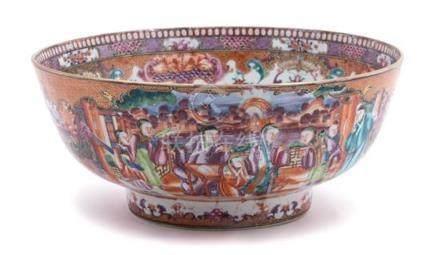 Chinese Export Mandarin Palette Porcelain Bowl