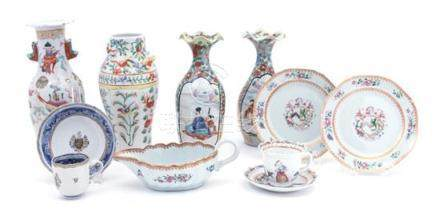 Nine Chinese Export Porcelain Articles
