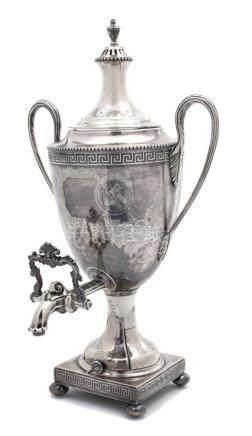 An English Silver Plate Coffee Urn