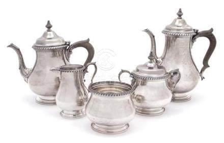 American Silver Five-Piece Tea and Coffee Service