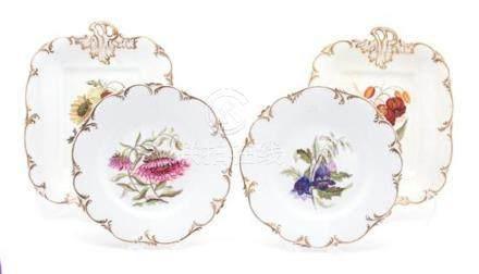 An English Porcelain Botanical Part Dessert Service