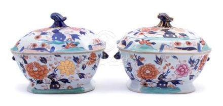 A Pair of Mason's Ironstone Japan Pattern Tureens and Covers