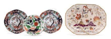 Three English Ironstone Plates and a Platter